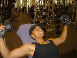 Nichelle at gym